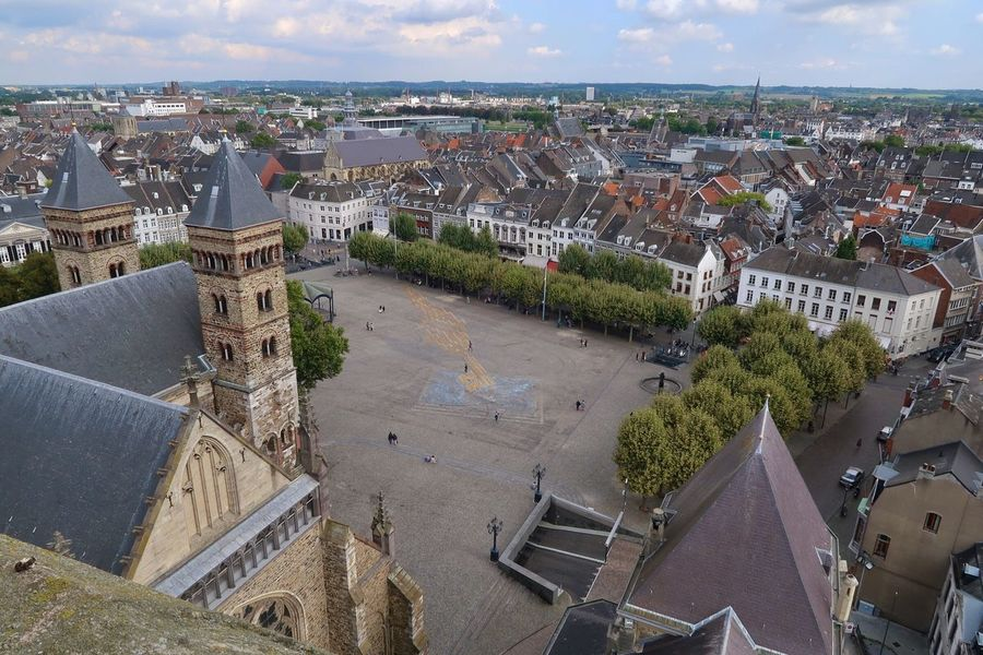 Maastricht Vrijthof Square Maastricht Cityscape St Servaas Basiliek View From St Jans Church Your Ticket To Europe
