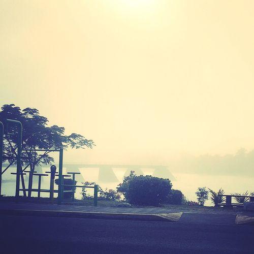 Hello World Foggy Morning Coldmornings ListeningToTheEarth💙 Fiji Life  Fiji Check This Out