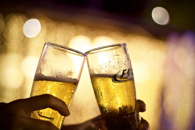 Drink Human Hand Refreshment Holding Alcohol Hand Glass Focus On Foreground Human Body Part Food And Drink Night Household Equipment Close-up Drinking Glass Real People Lifestyles Champagne One Person Beer Leisure Activity Celebratory Toast Finger Nightlife