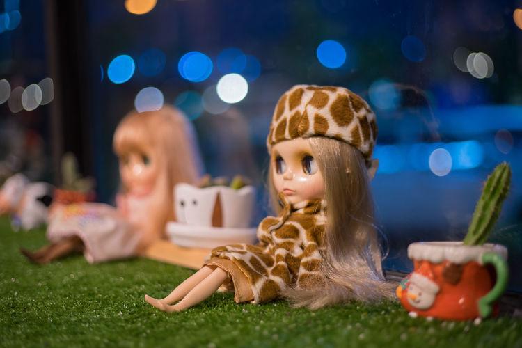 Blythe doll Blythe Doll ของเล่น เด็ก สวย ผู้หญิง Lovely โบเก้ Child Children Only Childhood Girls People Night Females Friendship One Person Indoors  Beauty Pets Close-up Space Adult ตุ๊กตา ตุ๊กตาขนาดเล็ก