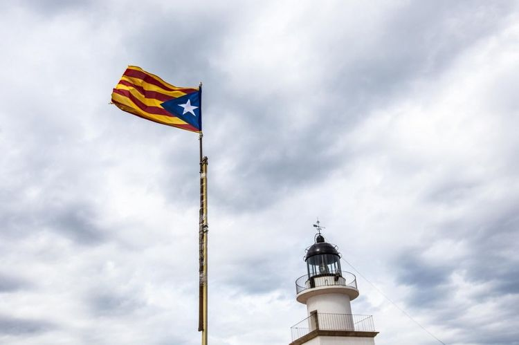 Flag Patriotism Cloud - Sky Waving Wind Day Sky Politics And Government No People Outdoors Catalunya Beauty In Nature Catalan