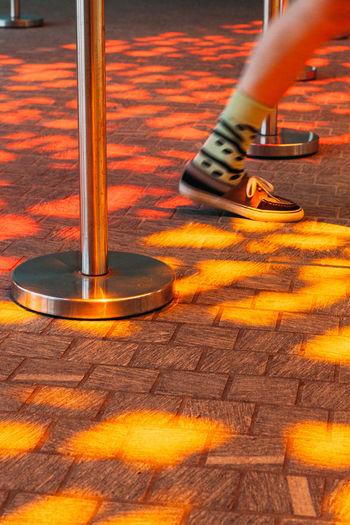 Day Flooring Leisure Activity Lifestyles Light And Shadow Orange Color Sun Sunlight Walk Walking Warm Water