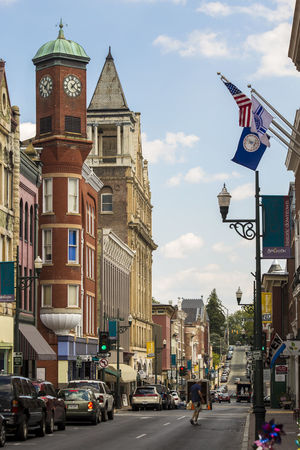 Small Town America Small Town USA Virginia Architecture Building Exterior Built Structure City Clock Day Outdoors Sky Small Town Staunton River Street Streetphotography Transportation Vertical