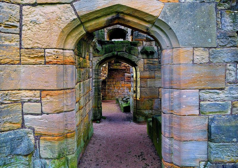 castle of warkworth,england Castle Doors England 🌹 Historical Monuments Arch Architecture Built Structure Day England English Heritage History No People Old Ruin Outdoors Point Of View Pointofview
