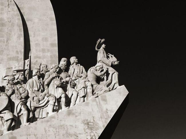 Monument To The Discoveries (Padrão Dos Descobrimentos) Sculpture Statue NEW WORLD  Conquistador Age Of Discovery Vasco Da Gama Columbus Lisbon Lisboa Belén Tagus River Portugal Ship Boat Henry The Navigator