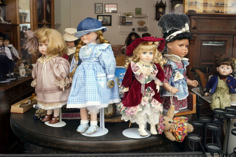Dolls in store for sale