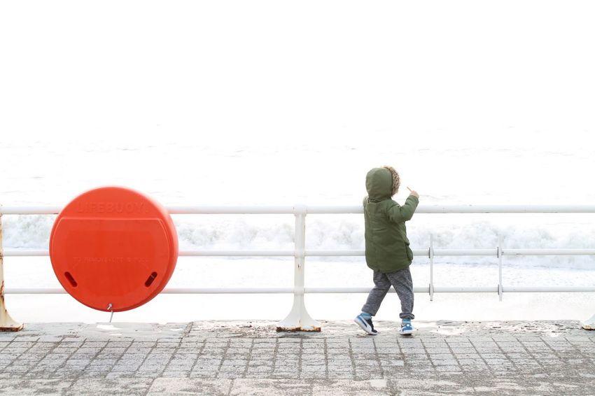 Taking Photos Relaxing Enjoying Life Children Sea Seaside Telling Stories Differently