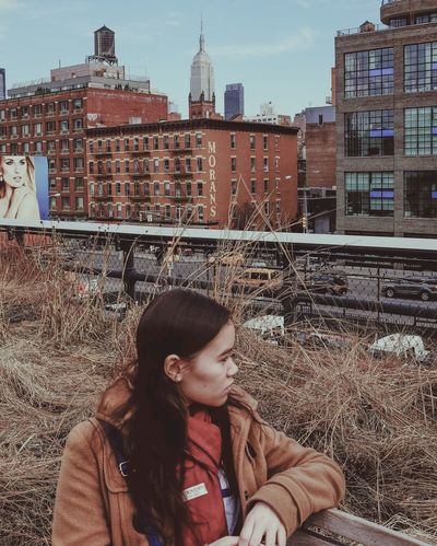 Girl on the High Line. Check This Out High Line Park The High Line NYC NYC Street Streetphotography Streetphoto Girl City Life EyeEm Best Shots Photooftheday Empire State Building Chrysler Building The Week Of Eyeem This Week On Eyeem The Week On Eyem The Week On EyeEm Up Close Street Photography