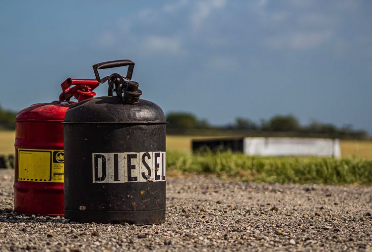 Fuel is dangerous Eyemphotography Eyem Best Shots Eyem Gallery EyeEm EyeEmBestPics Diesel Fuel Nature Sky Focus On Foreground Communication No People Text Day Outdoors Close-up Container