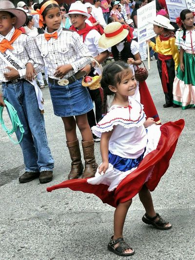 Capturing The Moment Little Girl Spontaneous Dancing San Vito Costa Rica Parade Spectator Independence Day Joy