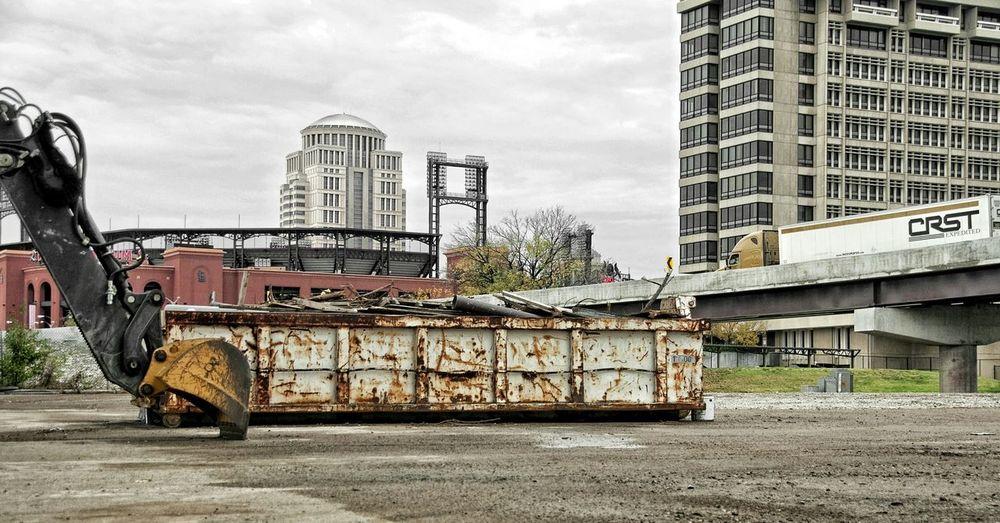 The Changing City Saint Louis Metal Construction Concrete Underpass City Underpass Labor Busch Stadium Junk