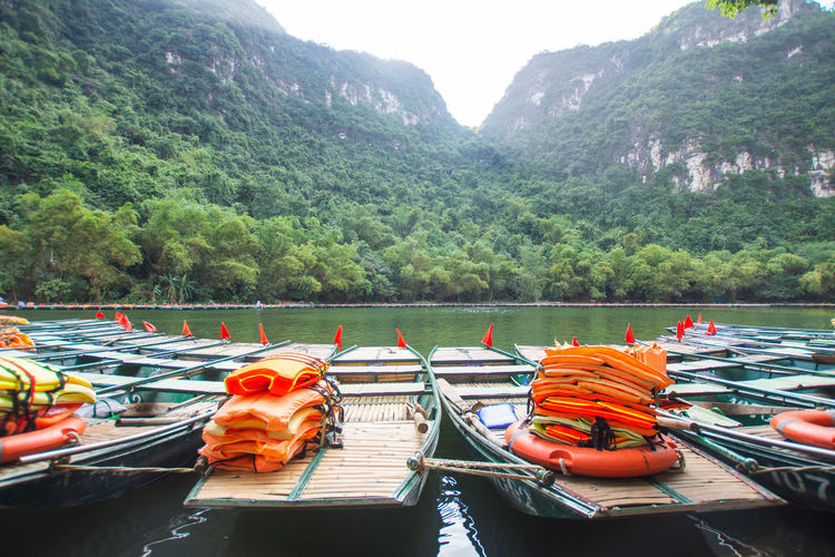 travel at Trang An, Ninh Binh, Vietnam Nautical Vessel Water Transportation Mode Of Transportation Nature Day Moored Plant Mountain Tree Beauty In Nature River Scenics - Nature Outdoors No People Non-urban Scene Travel Mountain Range