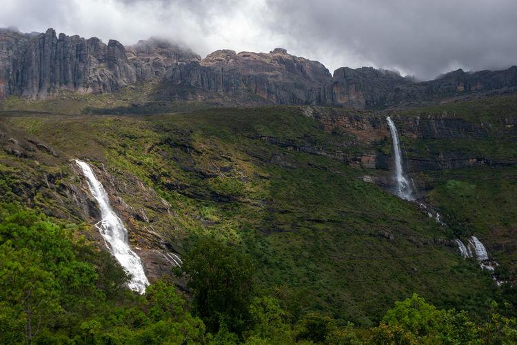 Waterfalls in andringitra national park, madagascar