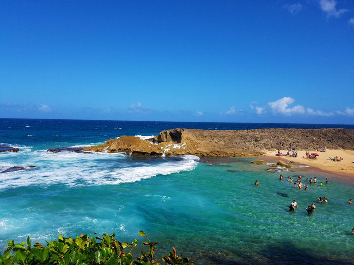 La Poza de las Mujeres in Manatí. Beach Check This Out Landscape People Plants Rocks Samsung Galaxy S7 Sand Sky Vacations Waves, Ocean, Nature Flying High Resist