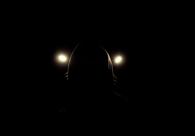 Dark Indoors  Black Background Mask Mask_collection Video Shoot Deutschrap Lost Places In Berlin Weißensee Lights Out Lights On Raw Grotesk EyeEm Portraits Doom Doomsday Bnw_collection No Face Illuminated Silhouette Mystery Obscured Face Real People Night Lighting Equipment Headshot