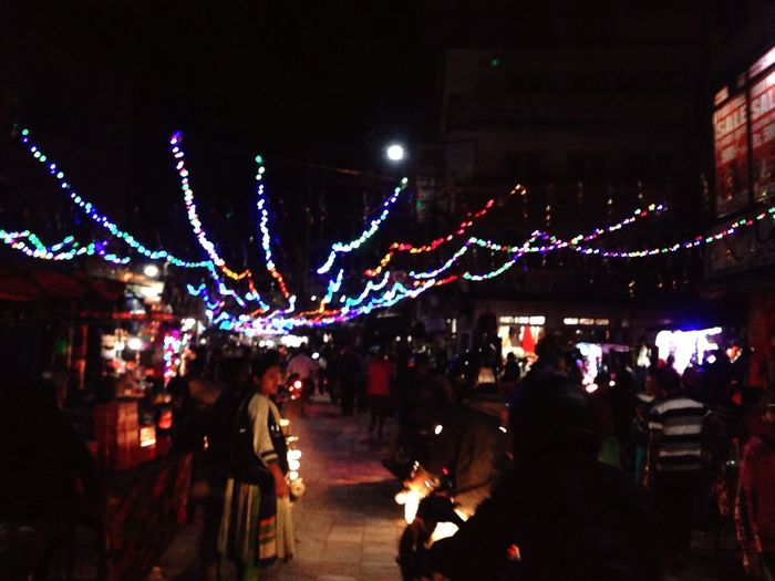 Enjoy The New Normal Illuminated Night Tihar Festival Of Light And Colour Celebration Lifestyles Outdoors Architecture PhotoNepal