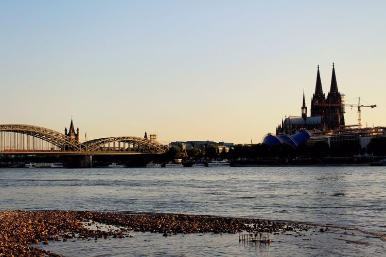 Cologne Köln City River Sunset Skyline Bridge First Eyeem Photo Rhine Rheinufer Rhein Deutschland Germany Church Dom Building Hello World Canon