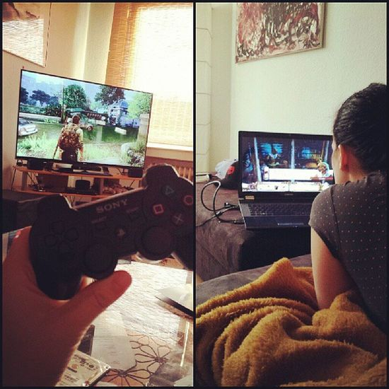 Gamercouple Gamer Nerd Loveher loveofmylife pc adventure ps3 playstation3 thelastofus couple with @velvetblow
