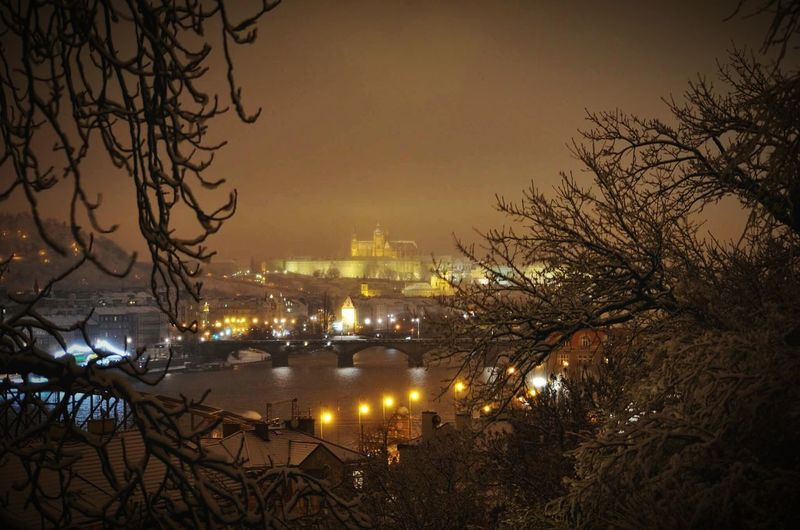 Prague Wintertime Snow In Prague Magical Moment