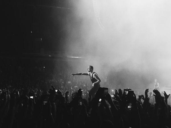 Depeche Mode Depeche Mode Live Crowd Blackandwhite Photography Arts Culture And Entertainment Audience Musician Live Event Enjoyment Stage Light Event