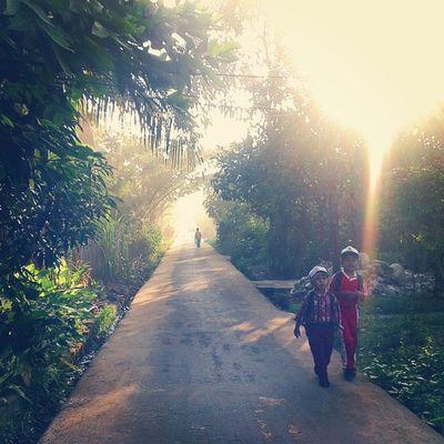 Semangat dan Cita-cita sangat tampak jelas di raut wajah dua bocah ini. Yang melangkah percaya diri Demi sebuah harapan Harapan untuk sebuah pembaharuan Harapan untuk sebuah ilmu yang dapat mengubah dunia mereka kelak Sinar pagi yang sangat cerah Memberi secercah energi Untuk menghadapi warna warni hidup Di salah satu sudut negeri Yang jauh dari kata sejahtera Di negeri sejuta ironi Negeri impian Sekolah Anaksekolah SD Pendidikan Sunrise Pagi INDONESIA Kamerahpgwe Indonesiaku Tanahair Generasimuda Samsung Ivj Pku Tembilahan Riau ASA Harapan