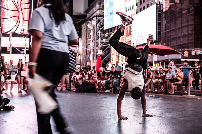 Battle Of The Cities Men Street City Lifestyles Walking City Life Person Motion Road Blurred Motion Crowd Full Length City Street Casual Clothing Togetherness Dance Breakdance New York Night Lights Streetphotography