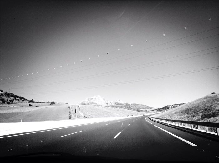 On The Road Christmas Holidays Blackandwhite