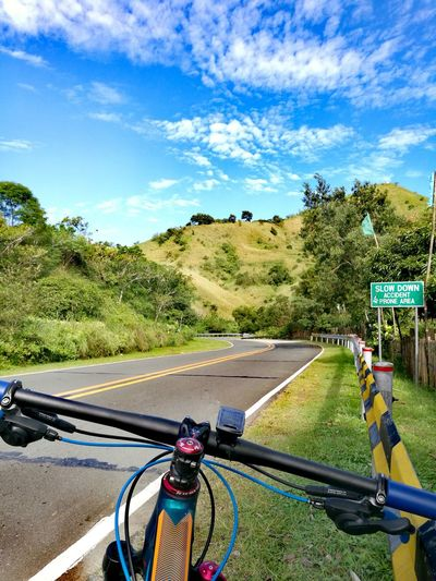 Be. Ready. Travel Bikes Roadtrip Road Mountain Scenery Outdoors Cycling Bicycle Sky Nature Roadlesstravelled Pleasant Pleasantday