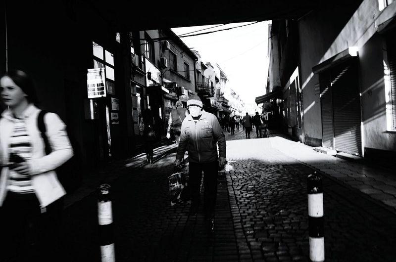 Man Street Streetphotography Blackandwhite Shadows Light Movement