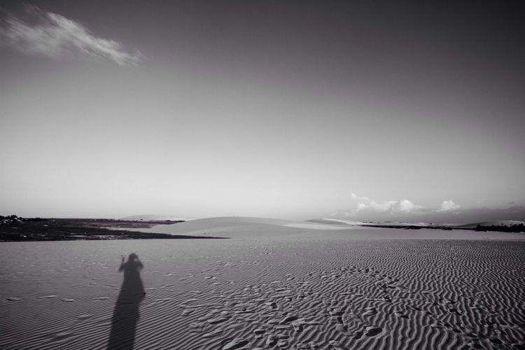 Casting Shadows Shadow On Sand Sand Desert Blackandwhite Black & White Dunes Jericoacoara - CE
