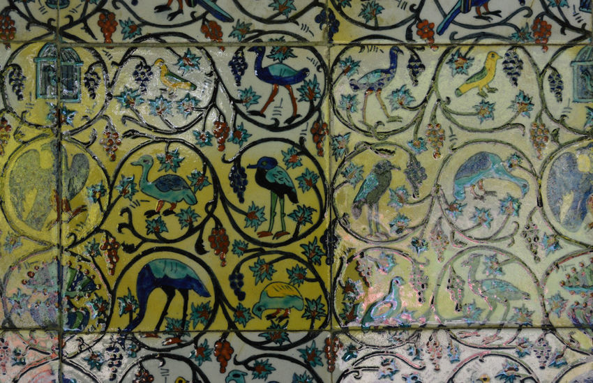 Abstract Art Art Nouveau Backgrounds Blue Ceramic Tiles Ceramics Close-up Design Detail Exotic Birds Full Frame Geometric Shape Green Color Mount Stewart Mount Stewart Gardens Mount Stewart National Trust Multi Colored No People Ornate Pattern Tile Tiles Wall - Building Feature Wall Tiles
