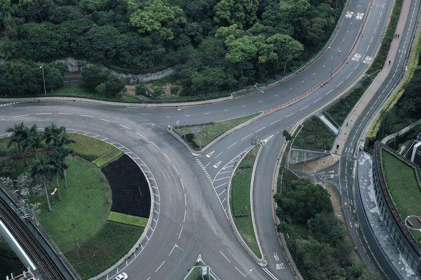 Highway Freeway Intersection Aerial View City Streets The Street Photographer - 2017 EyeEm Awards