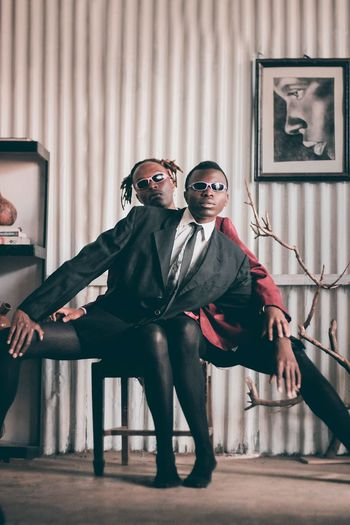 Fusion Africa Fashion Casualstyle EyeEm Best Shots Canon Photography Pose Full Length Halloween Portrait Disguise Men Looking At Camera Well-dressed Togetherness Old-fashioned