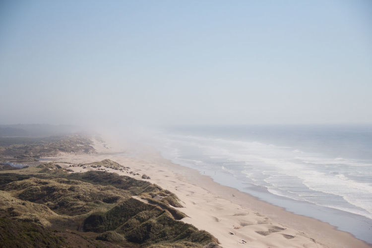 Stretch of coast on an Oregon to California roadtrip. California Coastline Oregon Vista Beach Beauty In Nature Coast Environment Horizon Horizon Over Water Landscape Marine Minimalism Mist Raodtrip Sand Sand Dune Sandy Beach Scenics - Nature Sea Sky Tranquil Scene Tranquility Water EyeEmNewHere