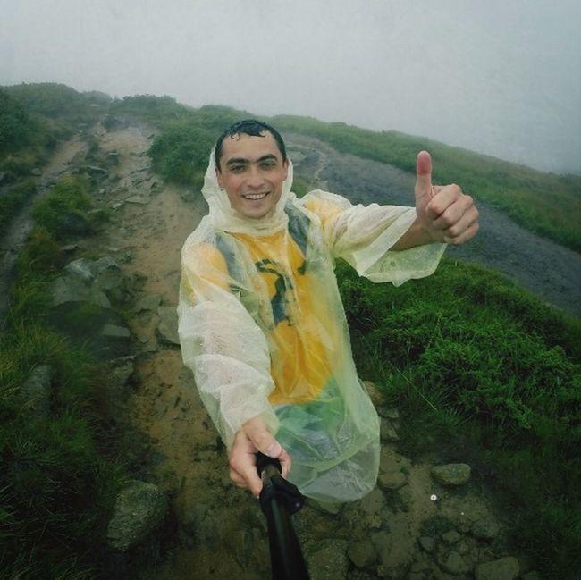 Carpathian Mountain trekking Gopro Rain