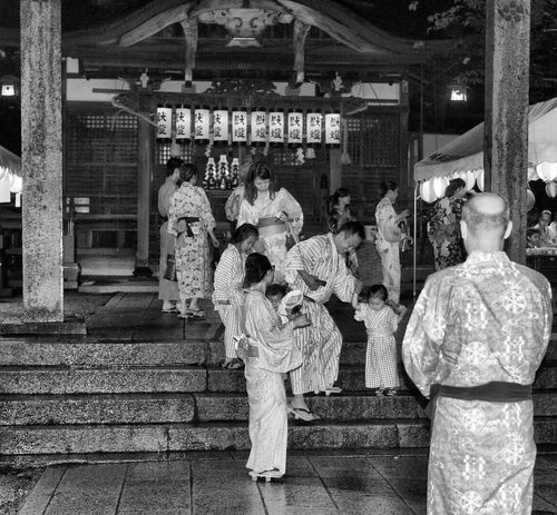 Real People Blackandwhite Japan Kinosaki Shinto Shrine