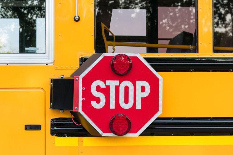 Stop sigh on school bus