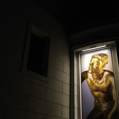 Statue Human Representation Sculpture Art And Craft Male Likeness Indoors  Spirituality Gold Colored No People Window Like A Painting PicturePerfect Getting Creative Getting Inspired Wall Color Architecture Palette Colors Light In The Darkness Lighting Equipment