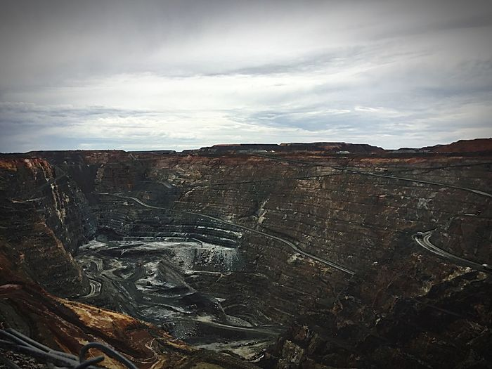The SuperPit Sky Rocky Tourism Non-urban Scene Dramatic Landscape First Eyeem Photo