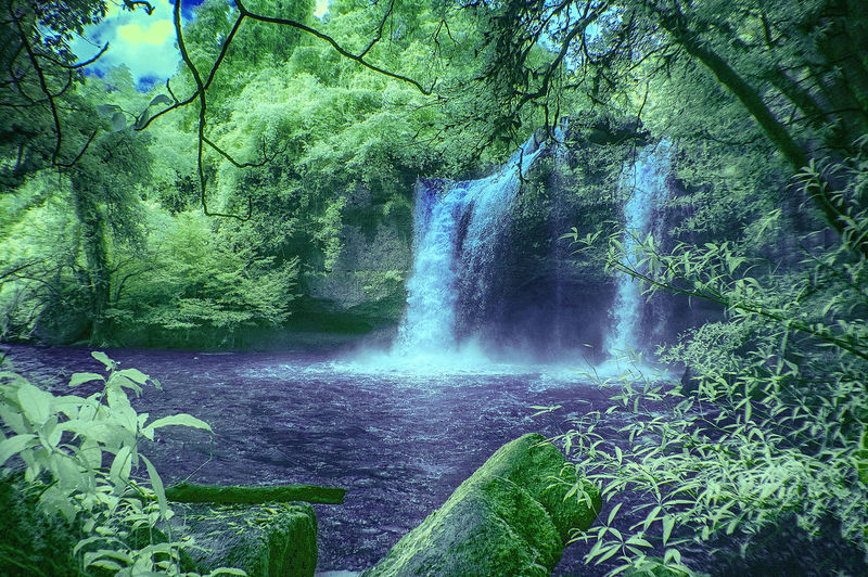 Big Mountain Beauty In Nature Forest Infrared Photography International Park In Seven Hills Nature Outdoors Rainforest Water Waterfall