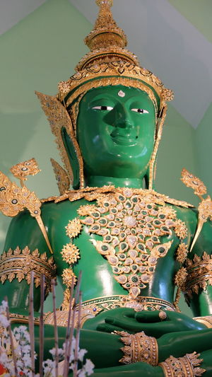 Low Angle View Of Statue In Temple