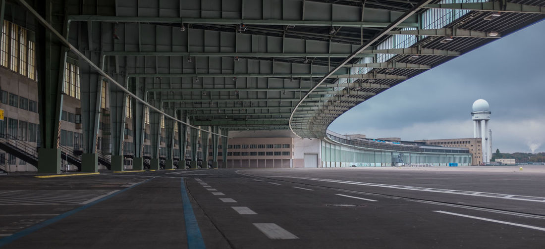 Empty hanger at berlin tempelhof airport