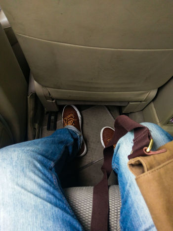 Another day, another shift... Jeans Human Leg Lifestyles Low Section Casual Clothing Real People Denim Sneakers Addict Messenger Bag Work Morning Shift Lieblingsteil