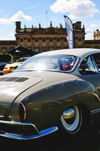 Car Land Vehicle Transportation Outdoors Architecture No People Day Sky Building Exterior Close-up Karmann Ghia Vwfestival Harewood House