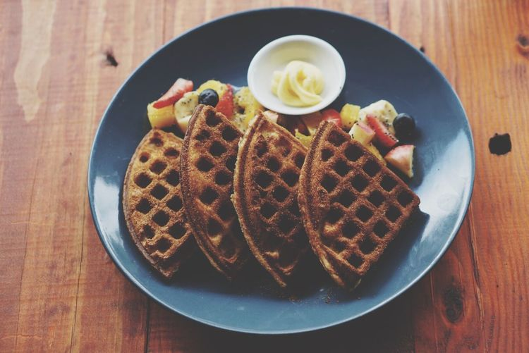Foodphotography Food Porn Food Waffle Wafflelicious Yummy Delicious Colours Beautiful My Favourite Breakfast Moment