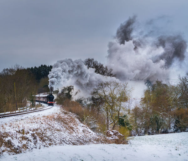 Steam Environment Heritage Plant Smoke - Physical Structure Snow Steam Train Train Transportation