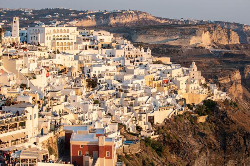 Architecture Greece Santorini Rock TOWNSCAPE Landscape High Angle View Sunlight Cityscape City