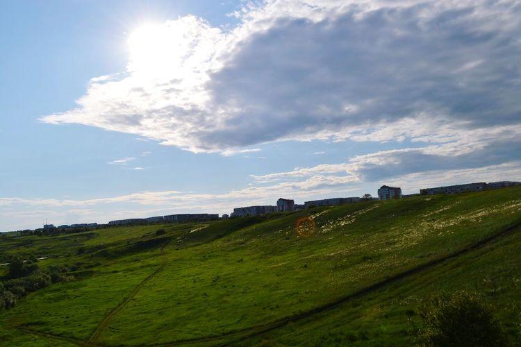 Clouds Blue Sky Greens Handsomely