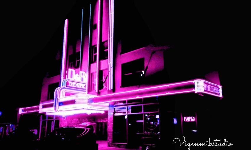 Aberdeen WA Old Theater Night Illuminated Neon Outdoors Photography Outdoors Photograpghy  Building Exterior AndroidPhotography Old Buildings Nightphotography Walking Around