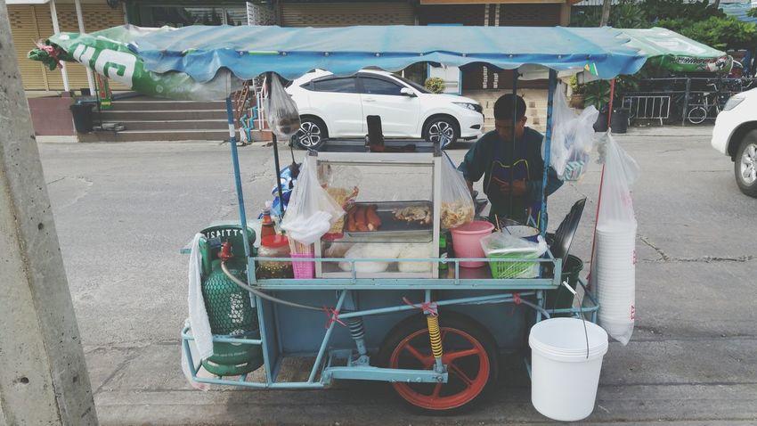 """Thai Street Food Vender, Ep. 1 """"Pok Pok Noodle"""" Thai Street Food"""